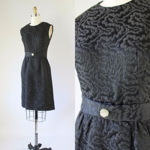 Vtg 60s Mad Men Cocktail Dress